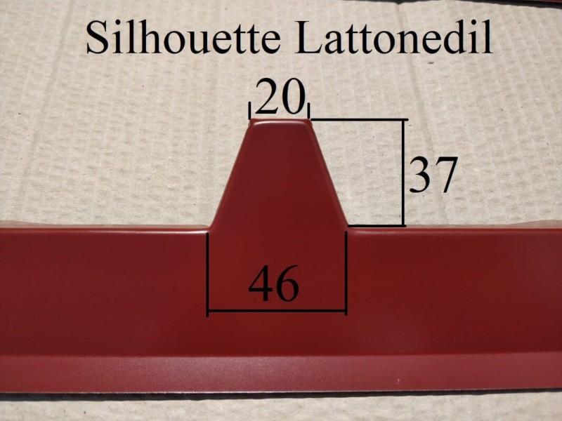 Silhouette lattonedil frontalino profilo
