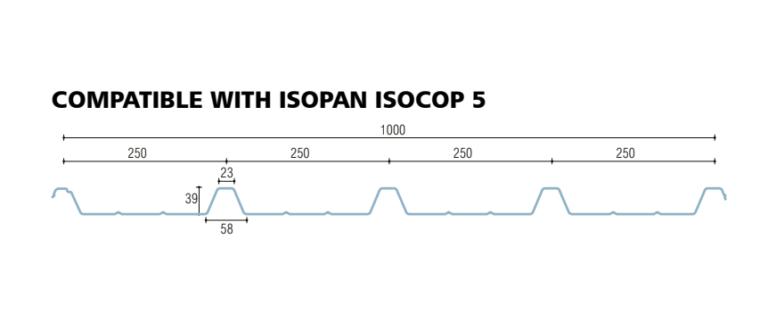 policarbonato compatto grecato compatibile isopan isocop 5