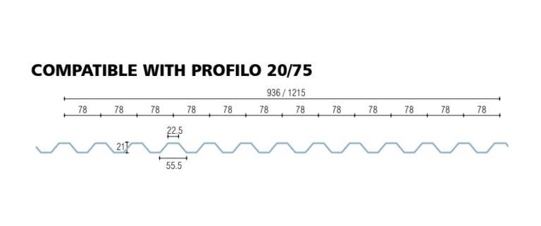 policarbonato compatto grecato compatibile lamiera profilo 20-75