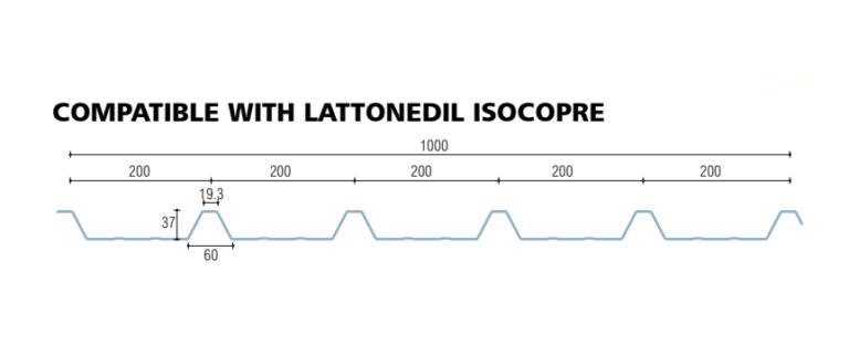 policarbonato compatto grecato compatibile lattonedil isocopre