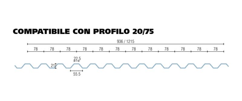 policarbonato microalveolare grecato compatibile con profilo 20-75