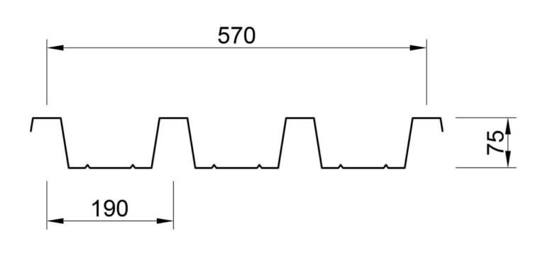 profilo lamiera grecata 75 p570 solaio
